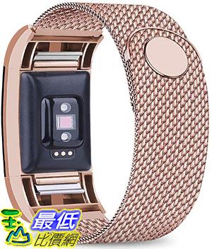 [9美國直購] Bopha 錶帶 Replacement Bands Compatible for Fitbit Charge 2 Stainless Steel Metal Bracelet