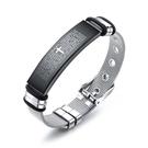 【5折超值價】鈦鋼手環十字架聖經造型潮流時尚鈦鋼手環