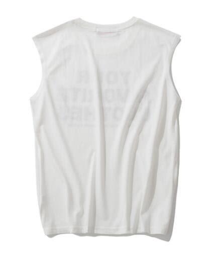 找到自己 MD 日系 潮 男 休閒簡約 寬鬆無袖 字母T 無袖T恤 無袖背心