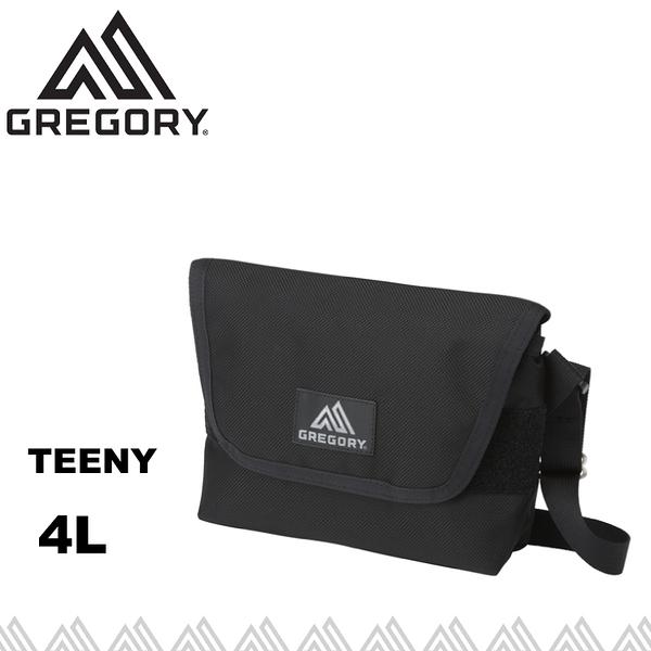 【GREGORY 美國 TEENY 郵差包《黑》4L】110148/旅遊包/隨身包/側背包