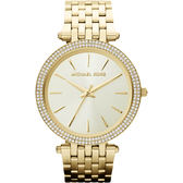 Michael Kors MK 光耀晶鑽都會手錶-金 MK3191