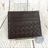 BRAND楓月 BOTTEGA VENETA BV 深咖啡 經典 編織 卡夾 卡片夾 名片夾 皮革 萬用 多層
