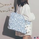 熱賣側背包 日系ins大容量帆布包包女側背2021新款潮韓版簡約學生上課托特包 coco