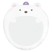 小禮堂 角落生物 北極熊 塑膠大圓扇保護套 透明扇套 圓相框 扇套 (白 大臉) 4974413-76371