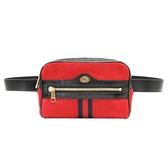 GUCCI 古馳 紅色麂皮x黑色漆皮腰包 肩背包 Ophidia Small Belt Bag 517076 BRAND OFF