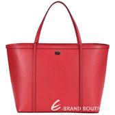 DOLCE & GABBANA 壓紋牛皮托特包(紅包) 1510596-54
