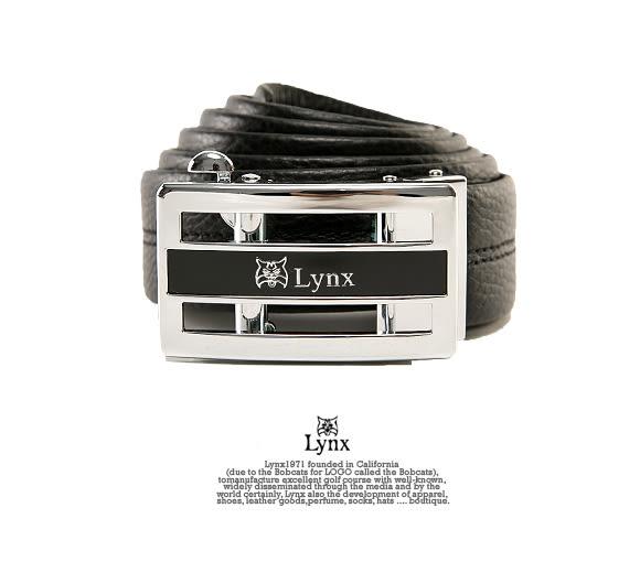 Lynx - 山貓城市系列紳士款自動扣真皮皮帶