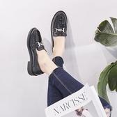女牛津鞋 韓版女鞋子 復古新款百搭圓頭英倫樂福鞋女學院風平底休閒單鞋小皮鞋《小師妹》sm3532
