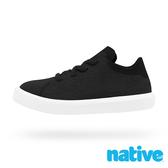 native 大童鞋 MONACO 短筒小摩納哥休閒鞋-烏黑黑x貝殼白