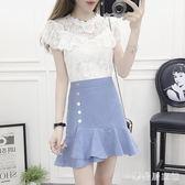 小套裝裙褲女裝兩件套夏季矮個子搭配嬌可愛甜美新款 QG5217『樂愛居家館』