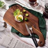 無漆切菜板實木披薩板烘培用面包板牛排托盤水果砧板美食拍攝道具   初見居家
