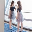 短袖洋裝 很仙的法國小眾連身裙女春裝2021流行女裝新款一字肩蕾絲裙子夏季