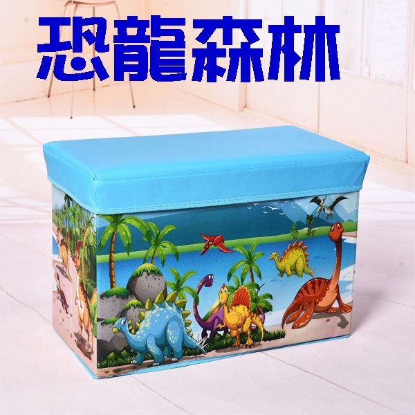 BO雜貨【YV6538】加大 卡通收納凳 有蓋整理箱 可坐成人玩具雜物箱 換鞋凳 摺疊凳  露營椅 玩具收納