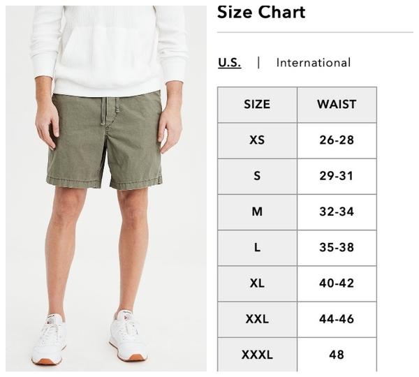 【BJ.GO】 AE NE(X)T LEVEL KHAKI JOGGER SHORT 美國老鷹舒適卡及慢跑短褲/抽繩休閒短褲