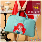 旅行袋-迪士尼系列經典公主水彩手繪風旅行袋-共5色-A13130078-天藍小舖