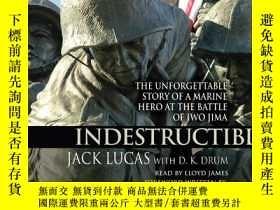 二手書博民逛書店硫磺島戰役中海軍英雄難忘的故事罕見Indestructible: