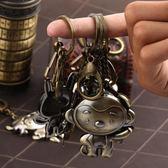 十二生肖掛件鑰匙扣鼠牛虎兔龍蛇馬羊猴雞狗豬汽車鑰匙扣掛件飾品【快速出貨八折一天】