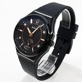 [萬年鐘錶]  BULOVA寶路華   曲面設計 晶鑽點綴女錶 黑錶面 黑橡膠帶 女錶  98R240