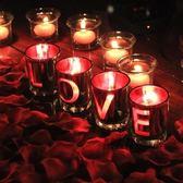 七夕LOVE蠟燭創意浪漫蠟燭求婚道具結婚戀愛錶白蠟燭創意生日禮物XW