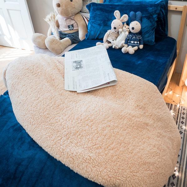 藍色多瑙河  (雙人)法蘭絨床包+雙人被套四件組 溫暖舒適     觸感細緻  溫暖過冬