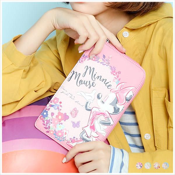 手機包-迪士尼花朵風L型手機包-共4色-A09090168-天藍小舖
