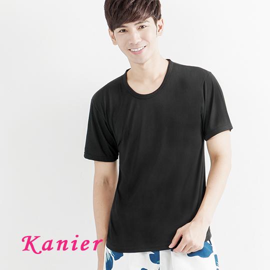 【Kanier卡妮兒】男士極度輕盈涼感衣 (k022黑藍灰)(M-XL)