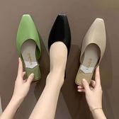 穆勒鞋潮時尚春夏半拖鞋女包頭外穿網美懶人平底單鞋潮【慢客生活】