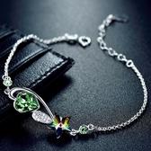 手鍊 925純銀水晶-時尚心星情人節生日禮物女手環2色73gl1【時尚巴黎】