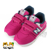 New Balance 574 桃紅 魔鬼氈 運動鞋 小童鞋 NO.R5076