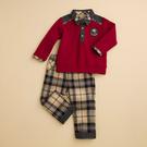 台灣生產製造  KA POLO襯衫格紋男童套裝