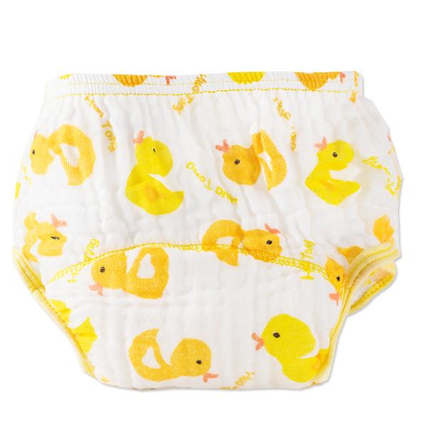 寶寶內褲紗布拉拉褲學習褲嬰兒卡通印花七層尿布褲-JoyBaby