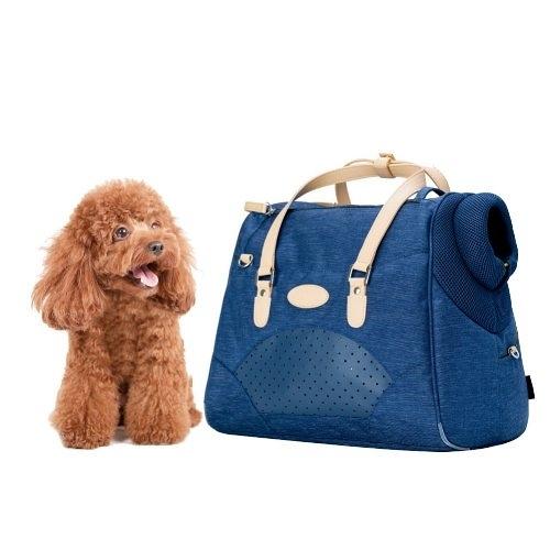 【Crazypaws】Tote時尚托特包 寵物外出背包 -丹寧藍