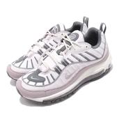 Nike Wmns Air Max 98 Summit 白 灰 粉紫 氣墊 女鞋 復古慢跑鞋 運動鞋【PUMP306】 AH6799-111