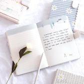 筆記本子文具 韓版小清新創意彩頁插畫手繪日記本 學生用記事本厚