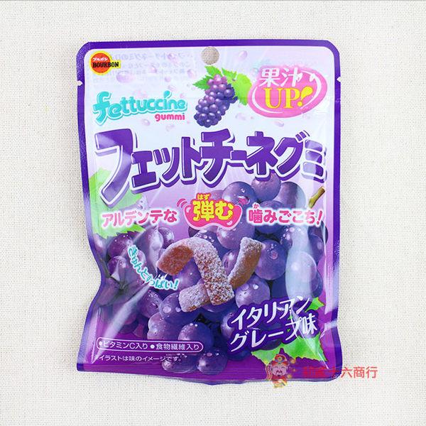 北日本BOURBON 長條軟糖(紅葡萄)50g【0235零食團購】4901360315826