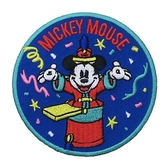 DISNEY 迪士尼米奇90週年紀念系列徽章刺繡熨燙貼布(指揮家)★funbox★Small Planet_DP25736