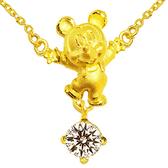 迪士尼系列金飾-黃金項鍊-開心米奇款