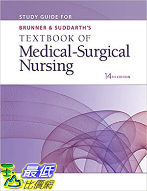 [9美國直購] 暢銷書 Study Guide for Brunner & Suddarth s Textbook of Medical-Surgical Nursing Fourteenth Edition