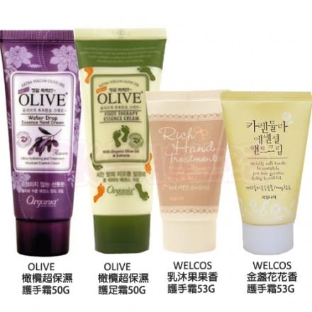 韓國White Cospharm Olive橄欖保濕護手霜/護足霜/ WELCOS滋潤護手霜 ◎花町愛漂亮◎