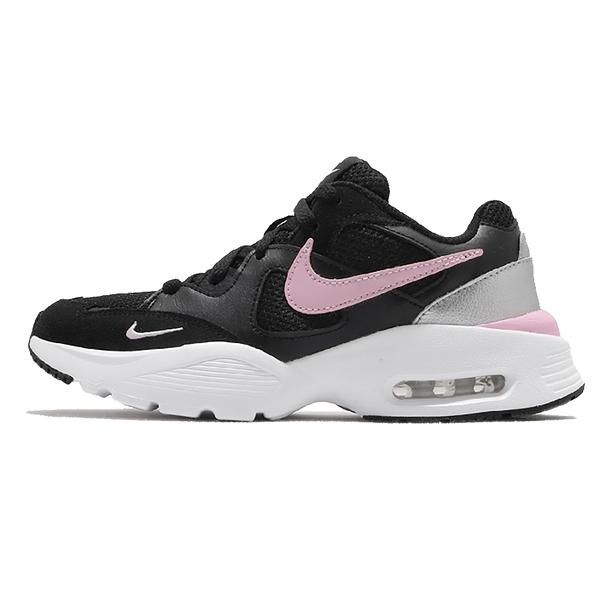 NIKE AIR MAX FUSION 慢跑氣墊緩震運動鞋女鞋黑粉 CJ1671005