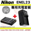 【套餐組合】 Nikon 副廠電池 充電...