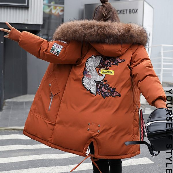 保暖羽絨棉3D圖大衣