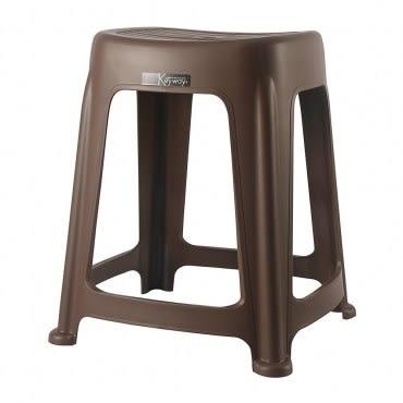 KEYWAY 花園止滑椅(高47CM) 咖啡色款 RC6683 39.9x36.3x