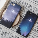 韓國 夜晚星空 硬殼 手機殼│iPhone 6 6S 7 8 Plus X XS MAX XR 11 Pro LG G7 G8 V40 V50│z8076