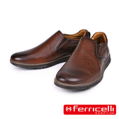【ferricelli】Koleos男仕素面休閒皮鞋  咖啡(F51241-COG)