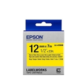 EPSON LK-4YBVN 原廠標籤帶(耐久12mm)黃黑 C53S654480