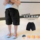 男童牛仔短褲外穿寶寶百搭工裝褲兒童薄款褲子【淘嘟嘟】