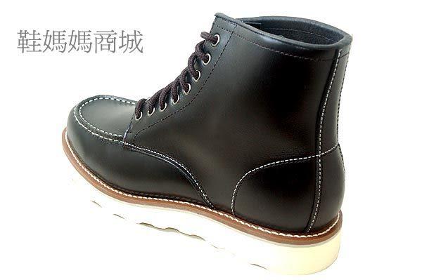 【鞋媽媽】[男]超人氣型男必備*明星的最愛*白大底鞋頭車蓋馬丁鞋*送黃棕鞋帶*ae229