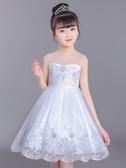 女童超洋氣公主裙2020夏季新款韓版白色紗裙兒童大合唱禮服連衣裙兒童洋裝
