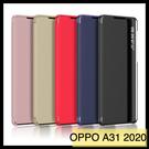 【萌萌噠】歐珀 OPPO A31 2020 新款側邊視窗設計 簡約商務 側翻皮套 支架 防摔保護殼 手機殼